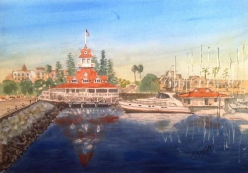 Coronado Boathouse by Gerald Bischoff