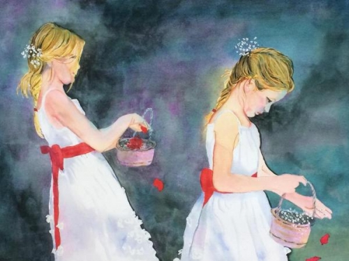 Honorable Mention - Flower Girls by Marilyn Shayegan