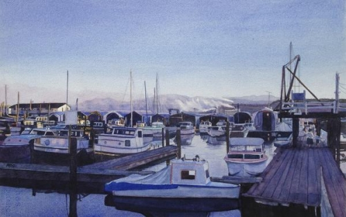 The Boat Haven Harbor by Michael Garberick