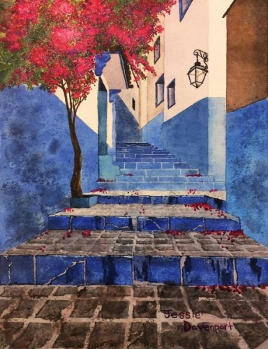 Chefchaouen's Blue Brilliance by Jessie Davenport