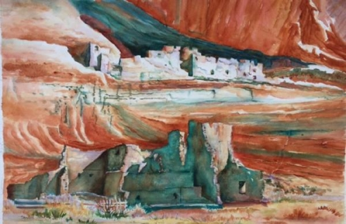 Canyon de Chelly - White House Ruins by Sandra Seckington