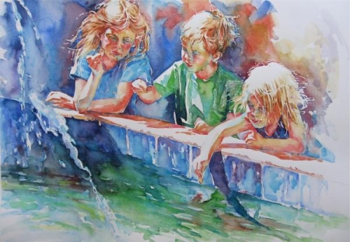 Three Children, Three Coins, And A Fountain by Susan Keith