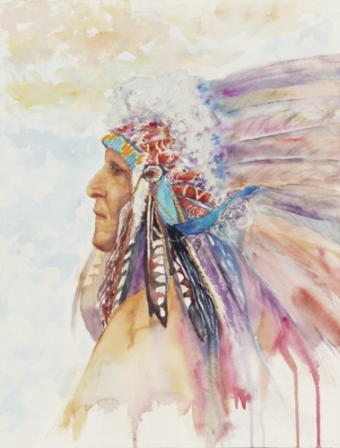 Crow Indian Chief by Carolyn Robertson