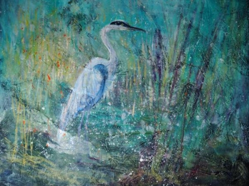 Patient Heron by Susan Binford