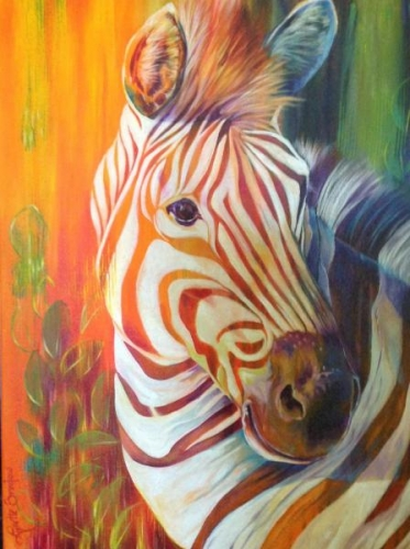 Juror Commendation - Zebra of Many Colors by Lynette Bredow