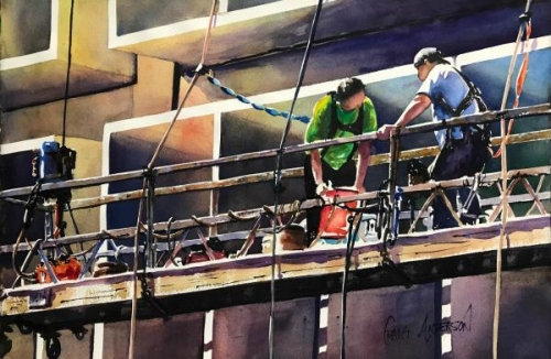 Window Washers by Craig Anderson