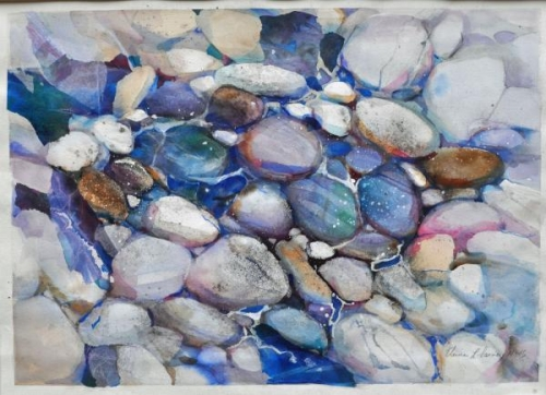 Smooth Stones by Elaine Harvey