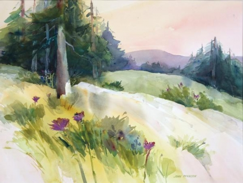 Cambria Hillside View by Joan McKasson