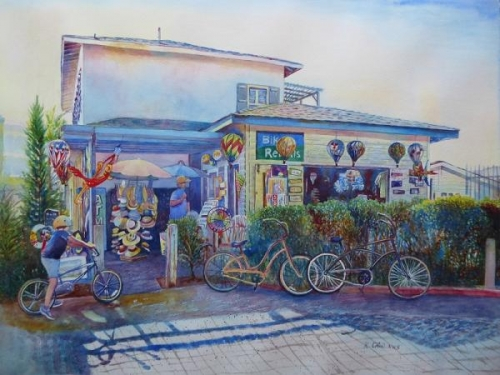 Shop Near Pacific Beach by Keming Chen