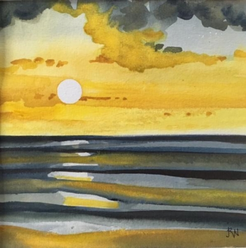 Watercolor Sunset 17 by Joanne Newman