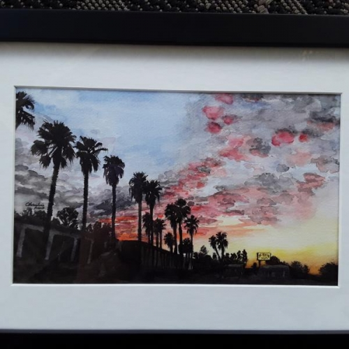 Palms and Clouds by Christine Mose
