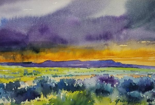 Spring Storms and Sage by Jami Wright