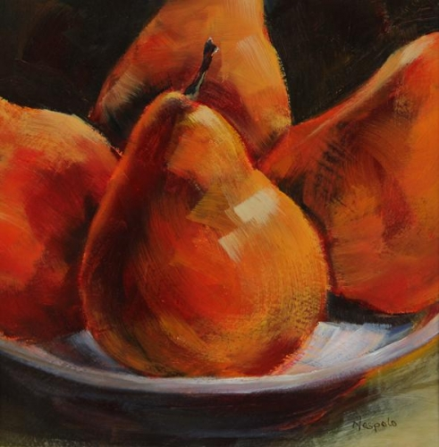 Bowl of Pears by Carolyn Nespolo
