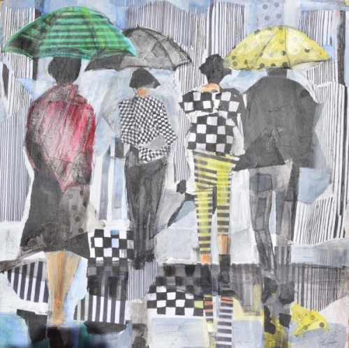 Second Place - Umbrella OpArt by Vi Gassman