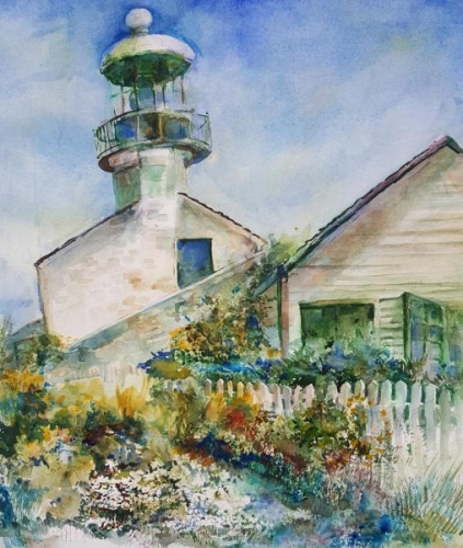 Cabrillo Lighthouse by Glory Giffin