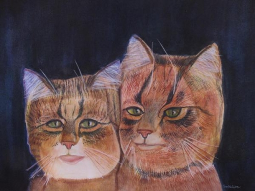 When Bad Portraits Become Cats by Sandie Linn