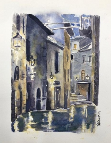 Paris Courtyard by Roz Oserin