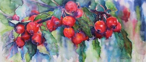 Honorable Mention,  - Crabapple Harvest by Susan Keith