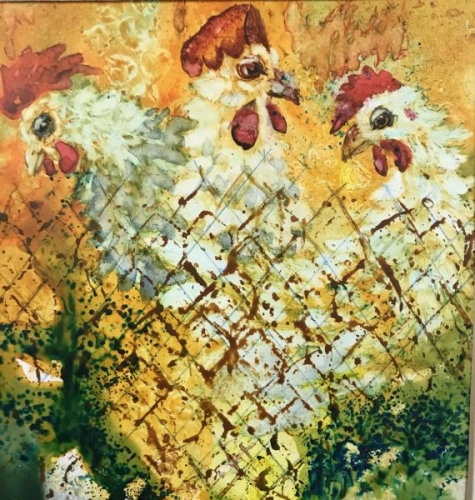 Spring Chickens by Gloria Chadwick