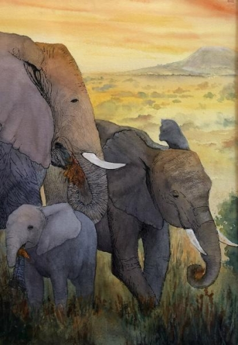 For Love of Elephants by Diane Moore