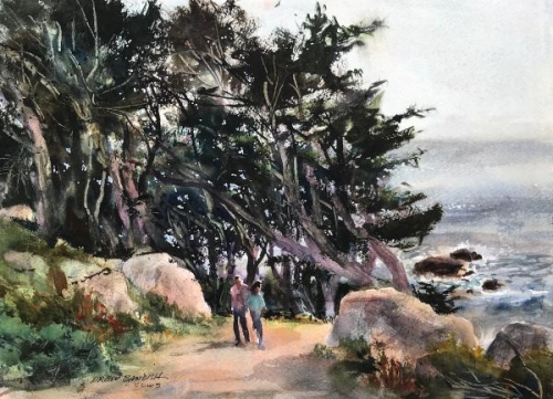 Through Trees at Land's End by Drew Bandish