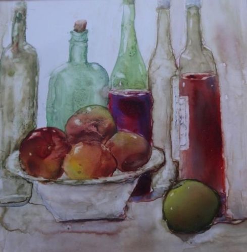 Second Place,  - Bottles and Apples by Susan Weinberg-Harter