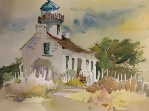 Honorable Mention,  - Point Loma Lighthouse by June Maxion