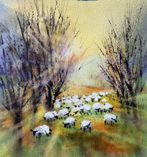 Counting Sheep XVI by Lorri Lynch