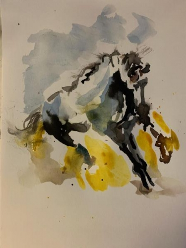 Spirited Horse by Nannette Farina