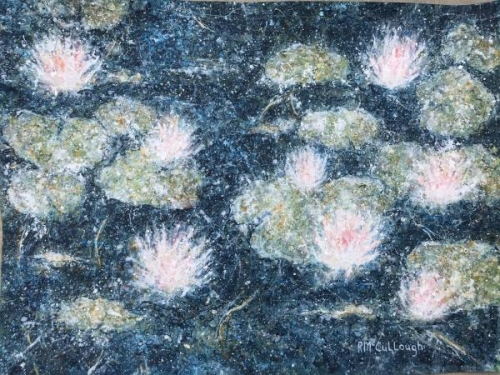A Scattering of Water Lilies by Rebecca McCullough