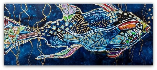 Tribal Fish by Wanda Honeycutt
