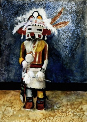 Old Hopi Katsina Doll by Vykki Mende Gray